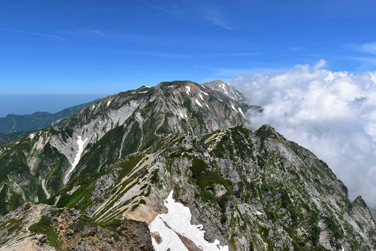 唐松岳からの白馬岳