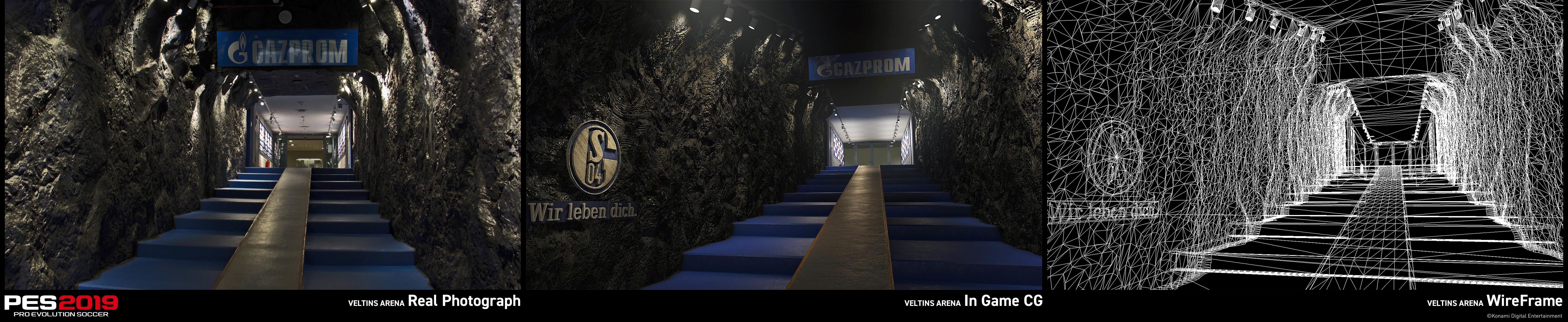 3D gescanntes Stadion