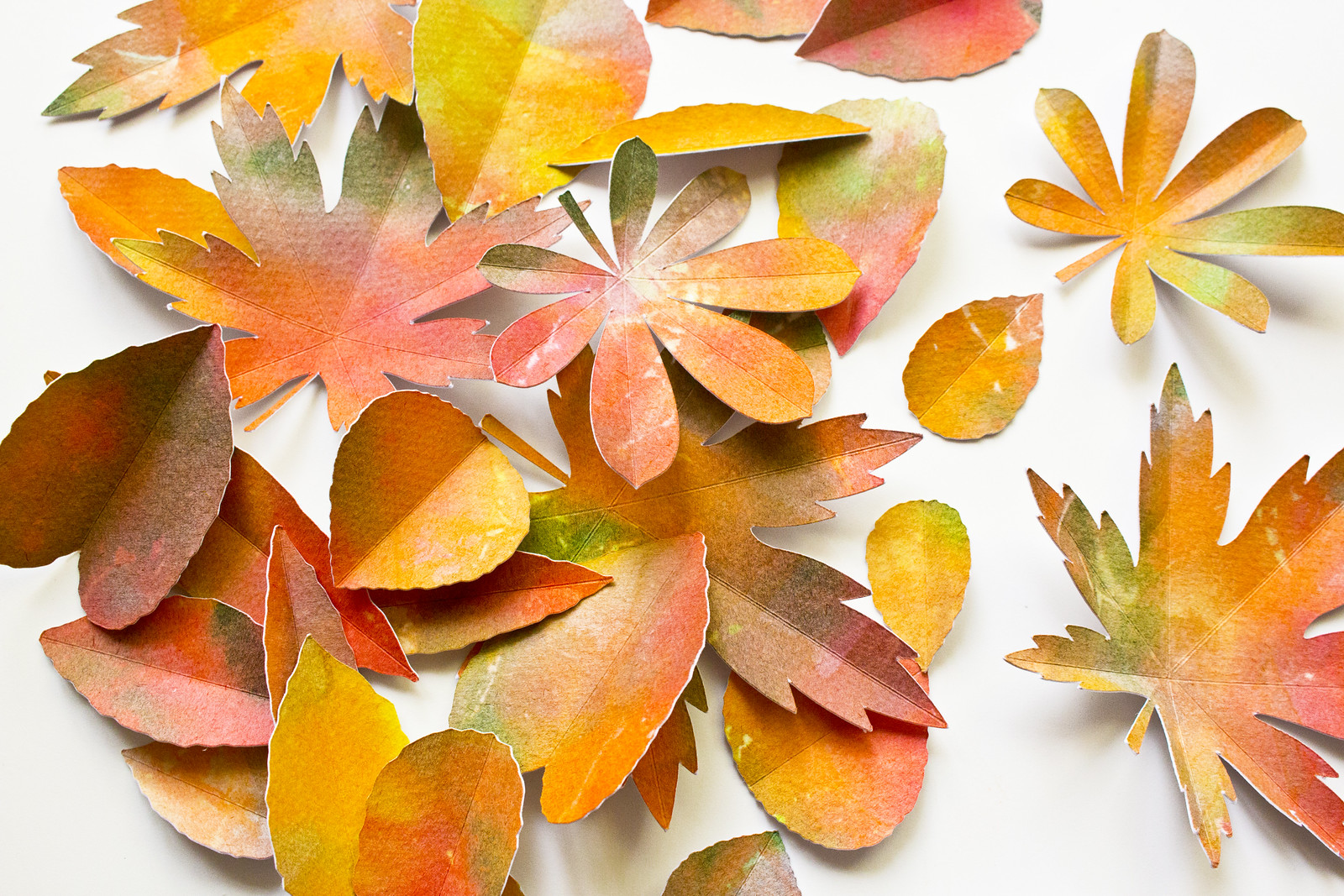 Toddler Craft Colourful Paper Leaves Mimi Codd