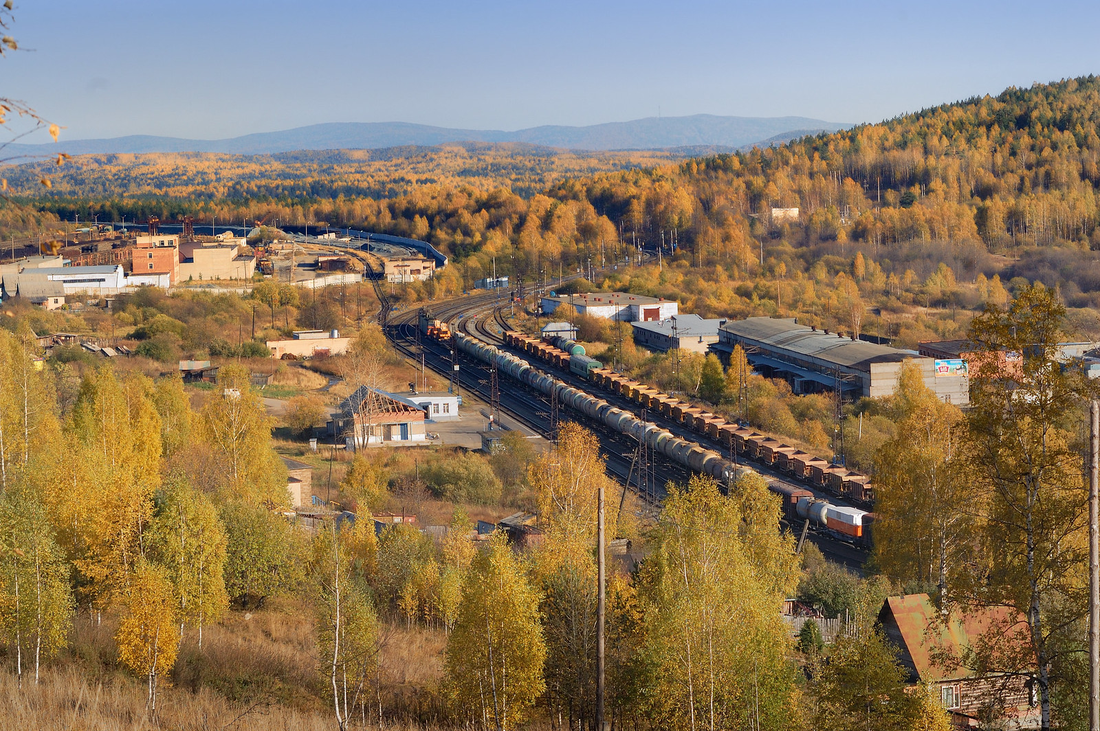 Промышленный фотограф Челябинск - Уржумка - станция Южно-Уральской железной дороги