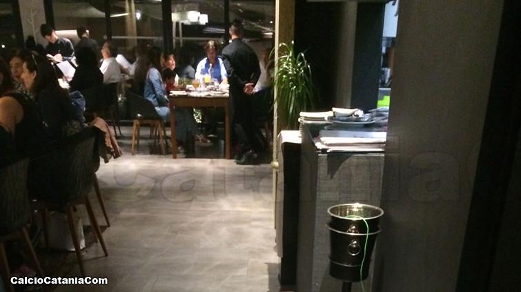 Andrea Sottil in un noto ristorante catanese