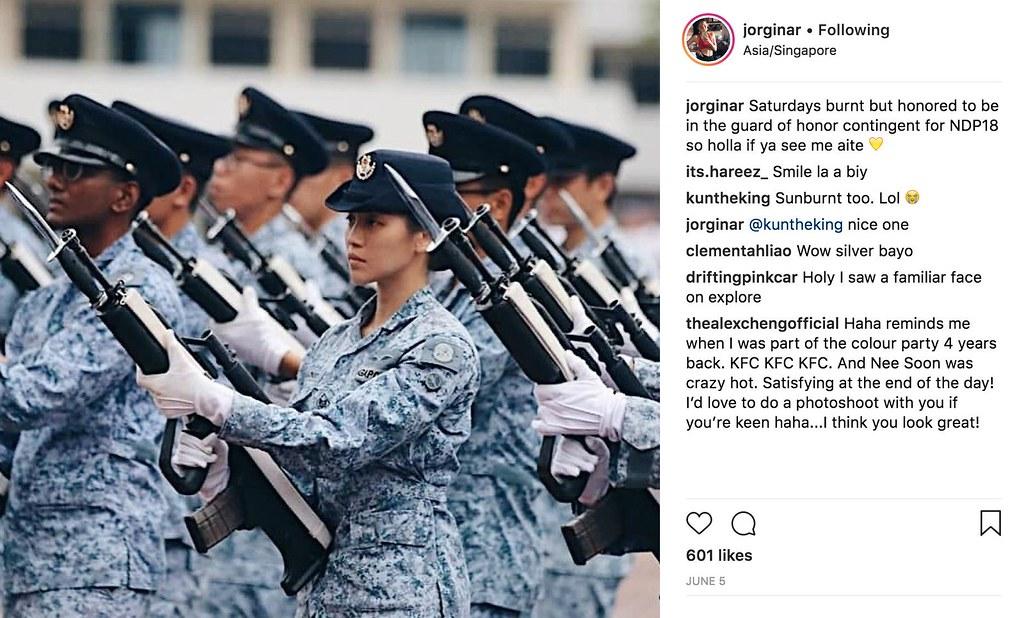 Who is Gorgina Choo? The Chiobu Guard of Honour President Halimah Yacob Spoke to at NDP 2018 - Alvinology