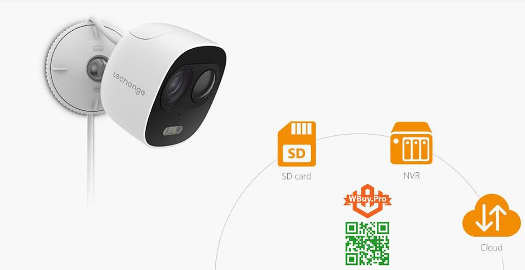 Camera Lechange Wifi LOOC cho phép lưu trữ lên nhiều hệ thống