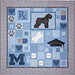 Bouvier Blues Custom Quilt by Whimzie Quiltz