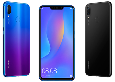 Huawei is selling the nova 3i in Singapore (S$398) in two colours: Iris Black (left) and Black (right).