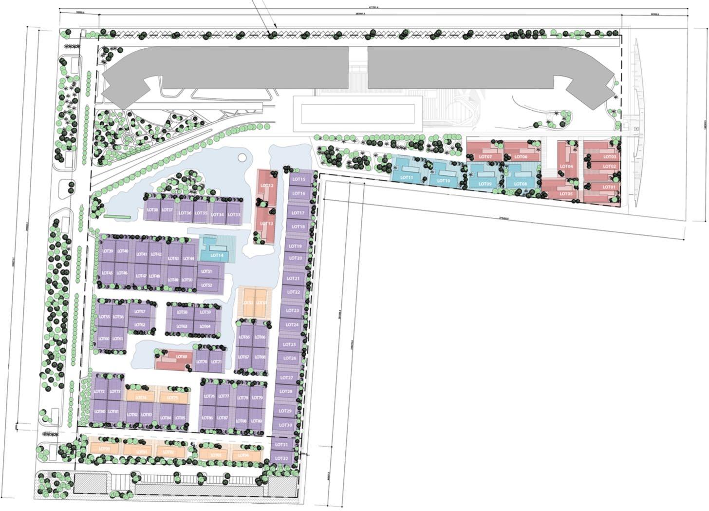 mặt bằng thiết kế Malibu Hội An gồm 668 căn hộ và 96 căn biệt thự