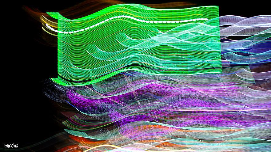 luces de neón en la feria de Valencia