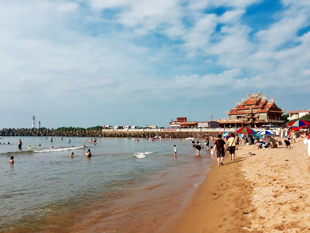La playa de Fulong, en la costa norte de Taiwán