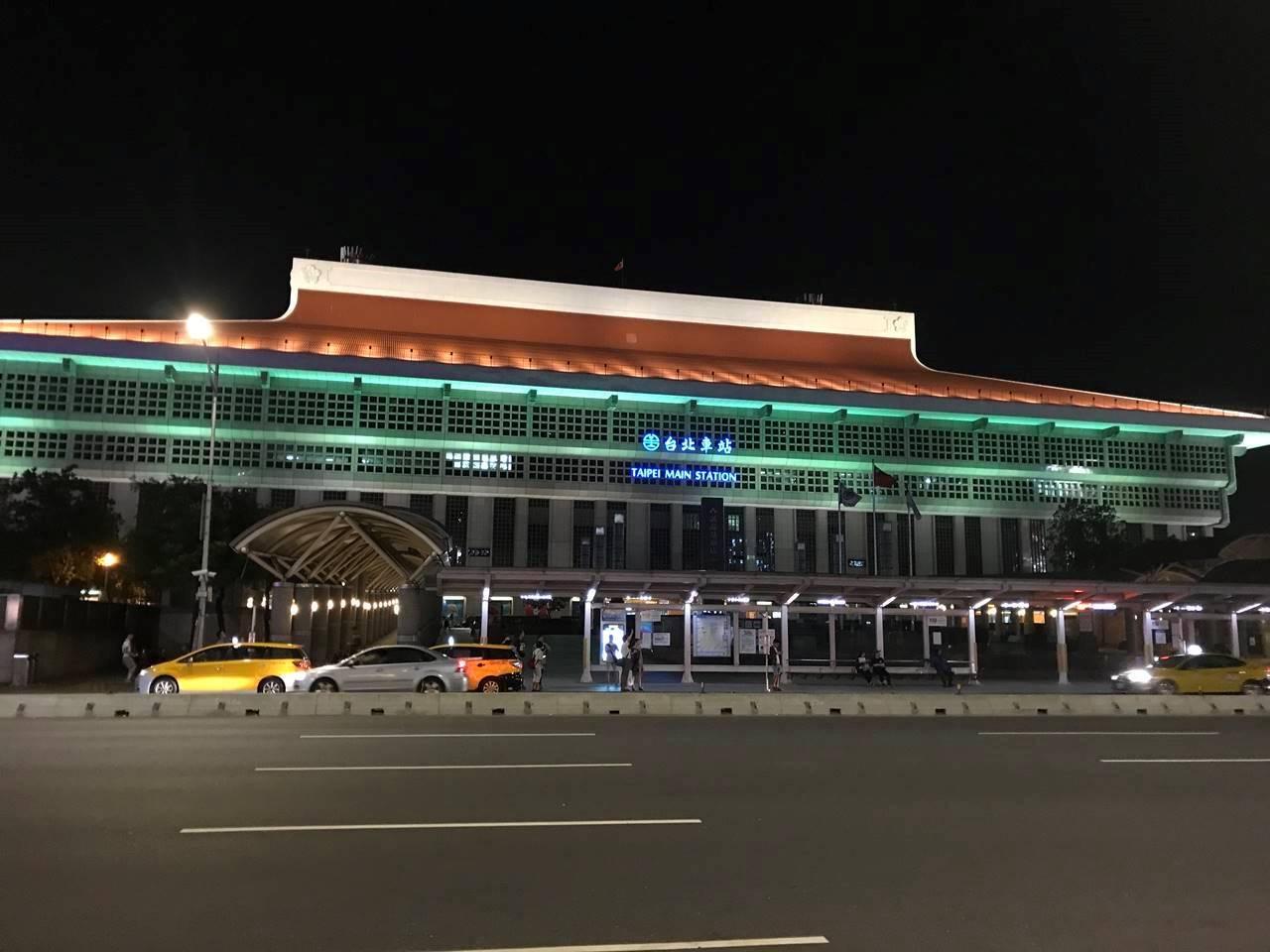 台湾 台北駅の夜景
