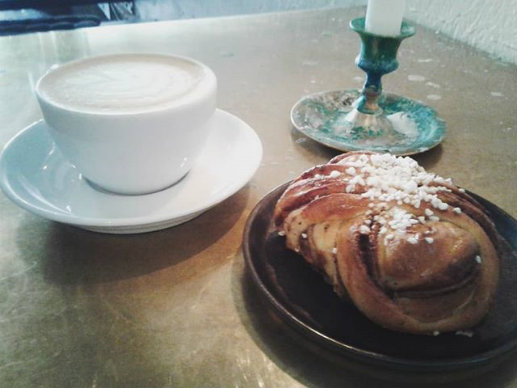 Coffee and Swedish cinnamon bun