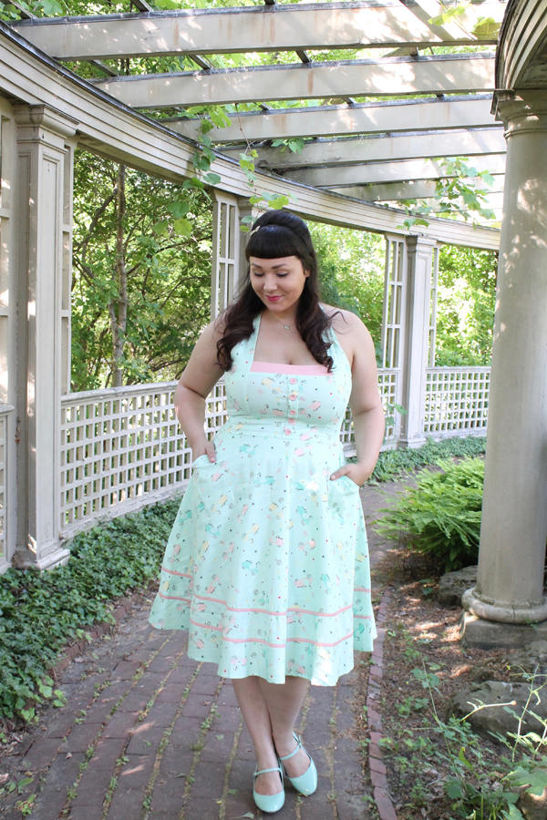 pastel retro dress