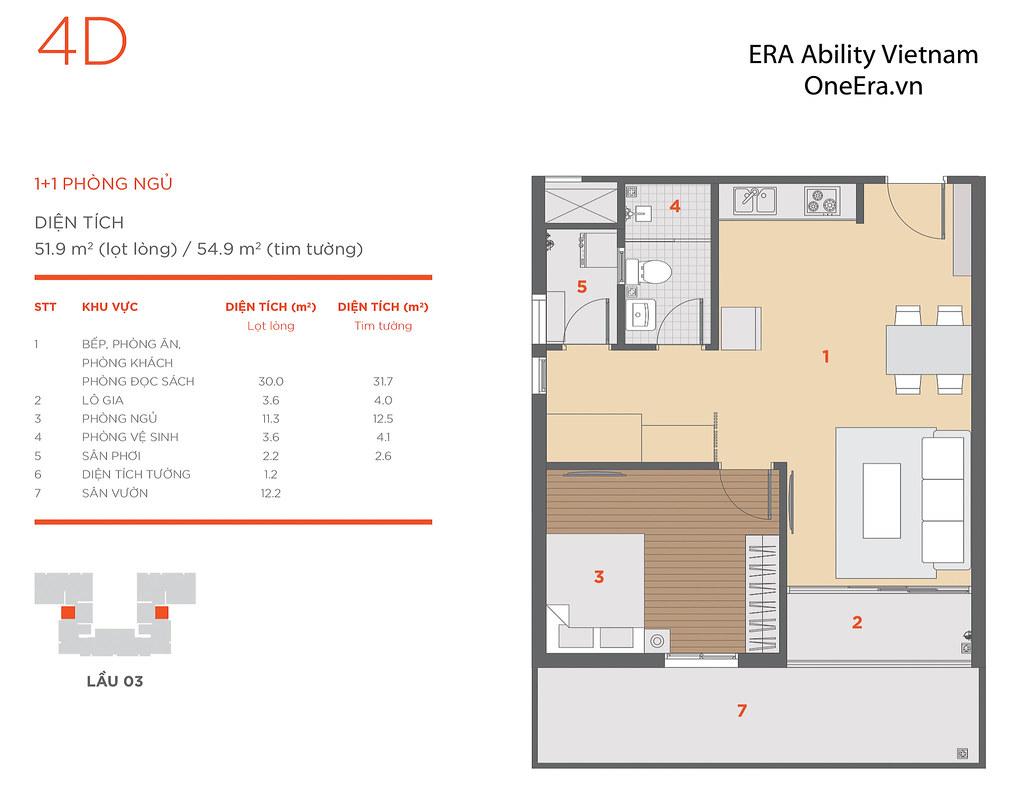 Mặt bằng tầng và thiết kế căn hộ Hausneo 54