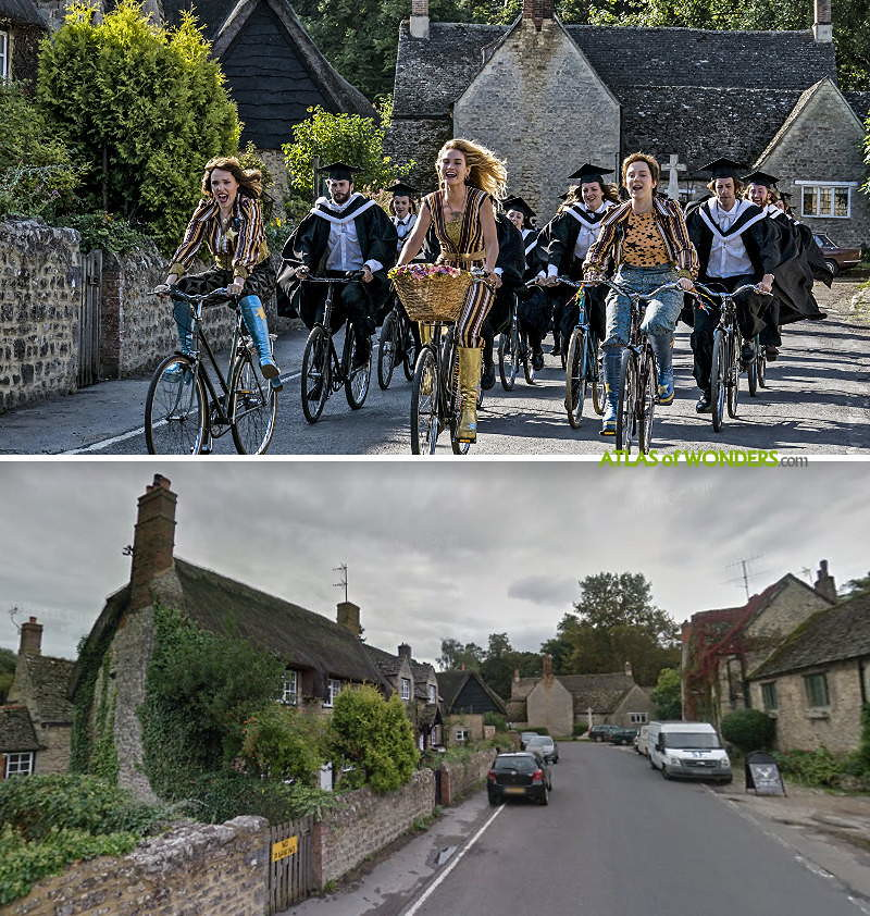 Actors cycling scene