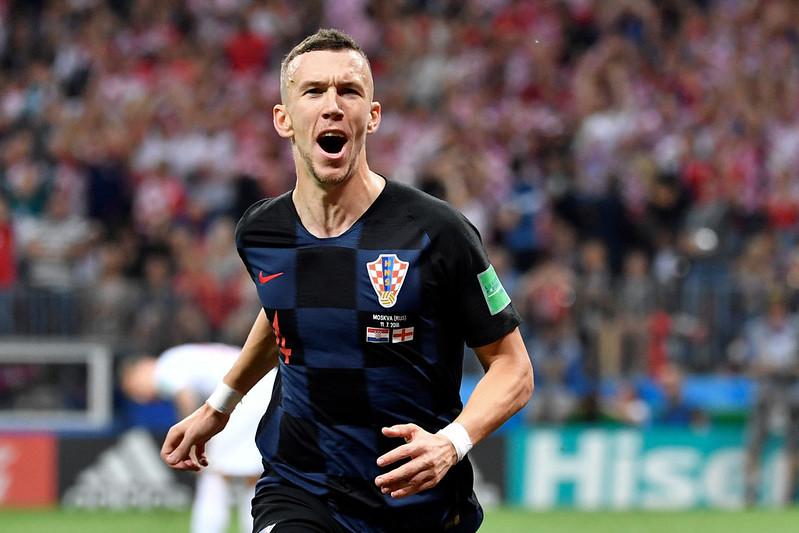 Ivan Perisic進球後慶祝。(AFP授權)