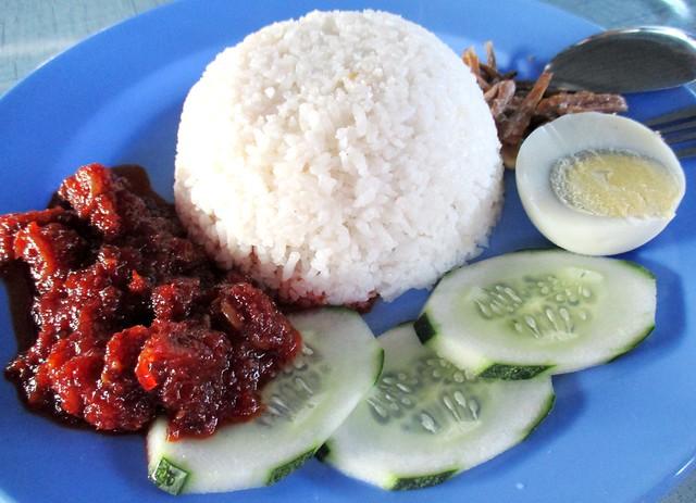 Nasi Lemak Bandong Walk nasi lemak sambal sotong 2