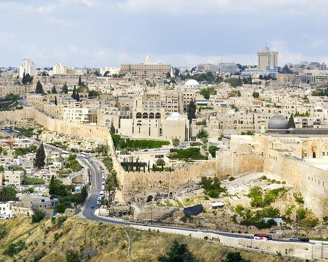 Jerusalén vista desde el huerto de los olivos