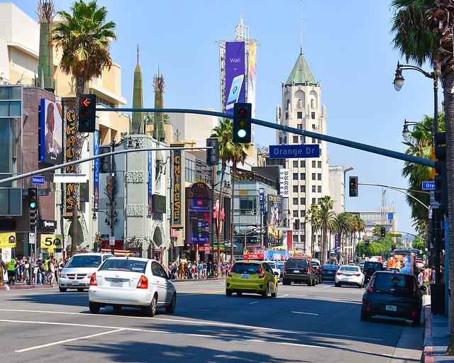 Hollywood Boulevard, el famoso paseo de las estrellas
