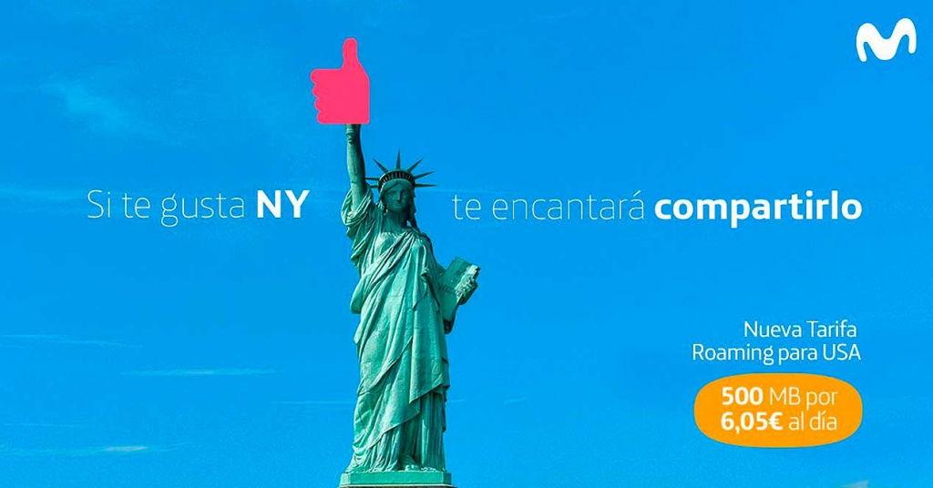 Nueva tarifa roaming de Movistar para viajar a Estados Unidos o Suiza