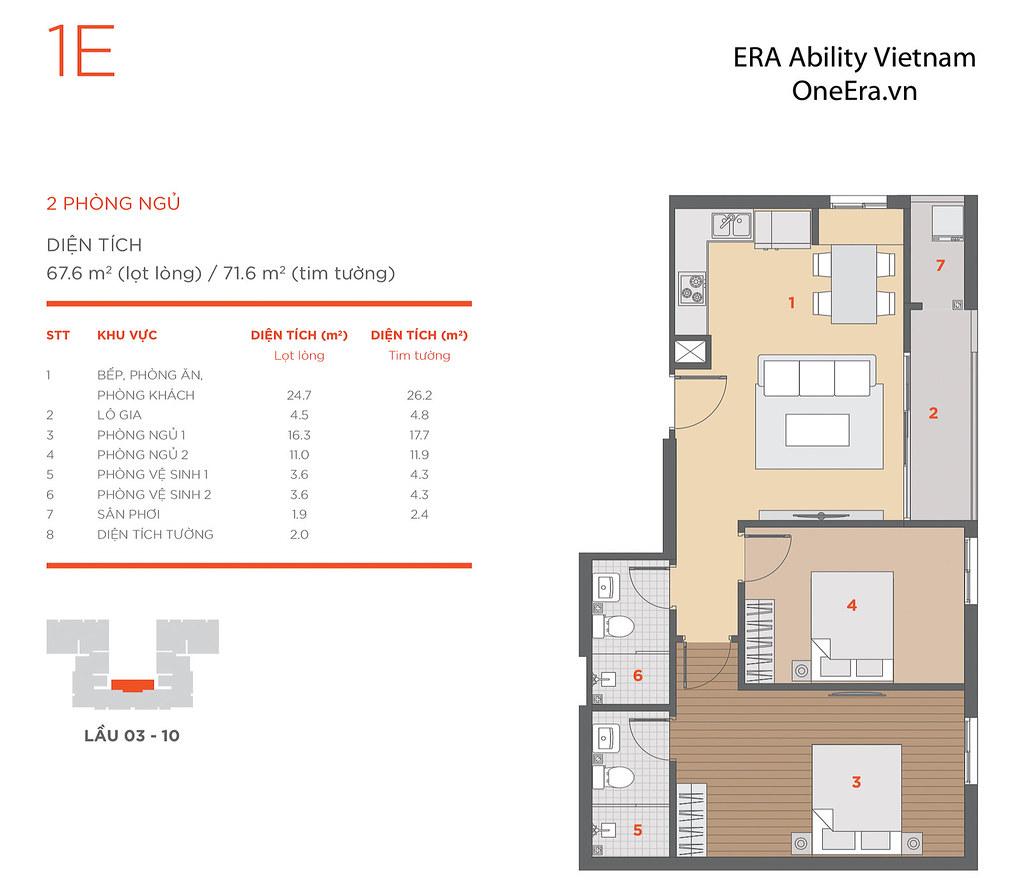 Mặt bằng tầng và thiết kế căn hộ Hausneo 44