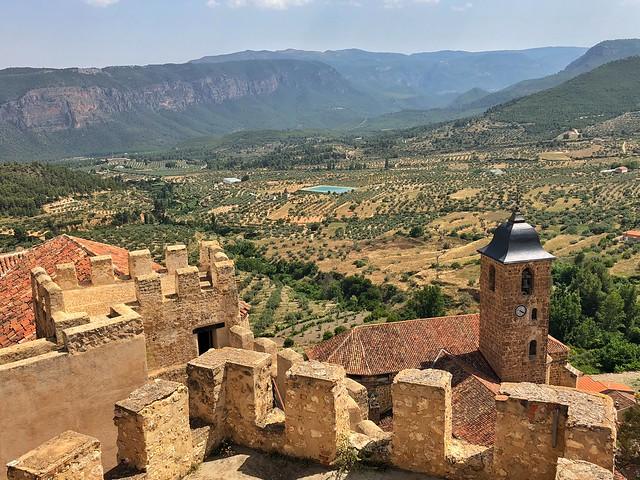 Vistas de Yeste desde el castillo (Sierra del Segura y Alcaraz, Albacete)