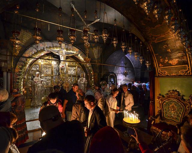 Iglesia de la piedra del Gólgota donde estuvo la cruz de cristo
