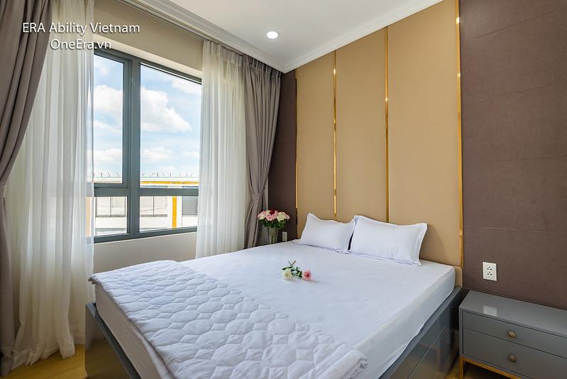 phòng ngủ Masteri Thảo Điền 2pn view thoáng mát
