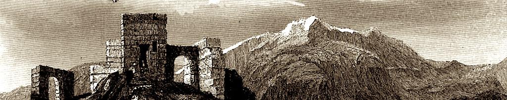 Гора Синай. Старинная гравюра.