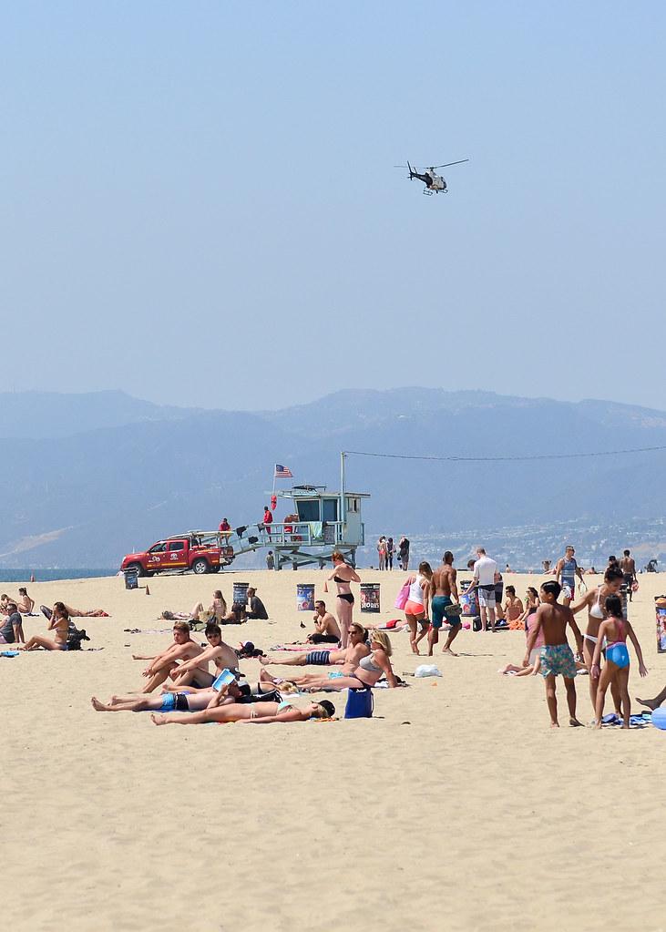 Los Vigilantes de la playa en Venice Beach en Los Angeles