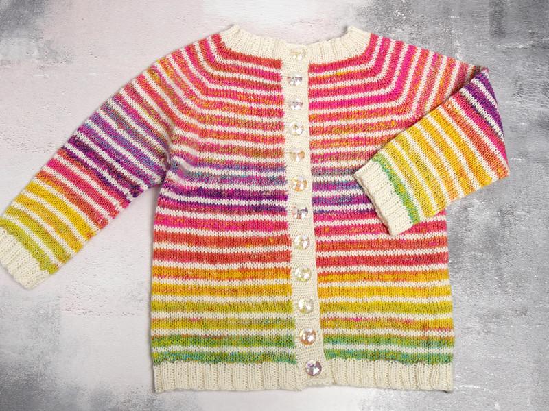 fractal handspun rainbow cardigan