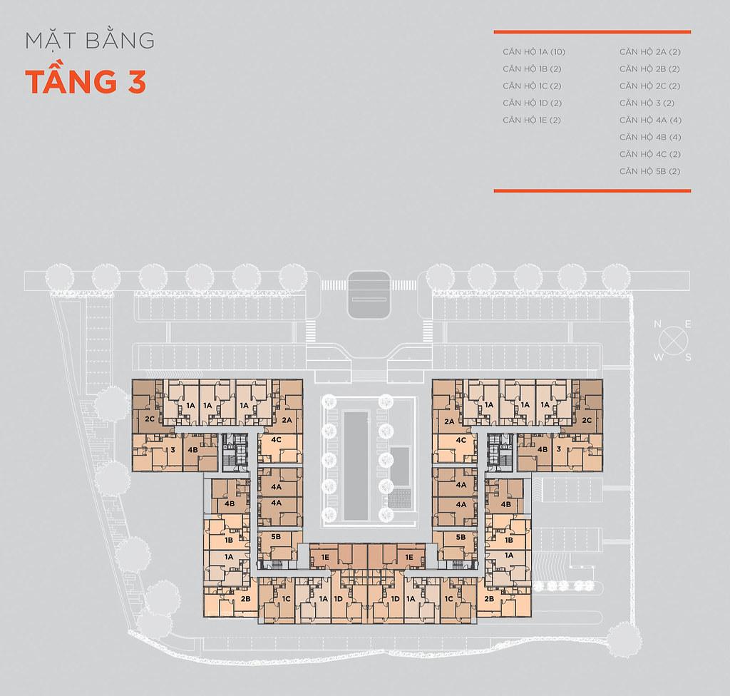 Mặt bằng tầng và thiết kế căn hộ Hausneo 31
