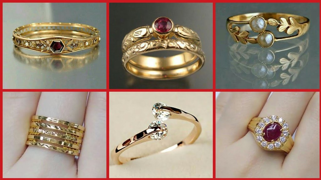 Stylish Gold Ring Designs For Girls Stylish Gold Ring