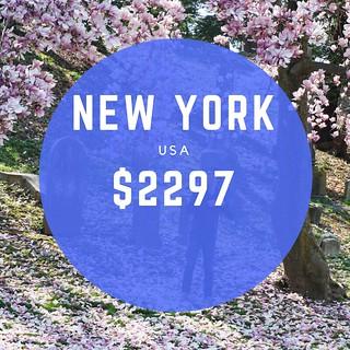 New York USA $2297 mo