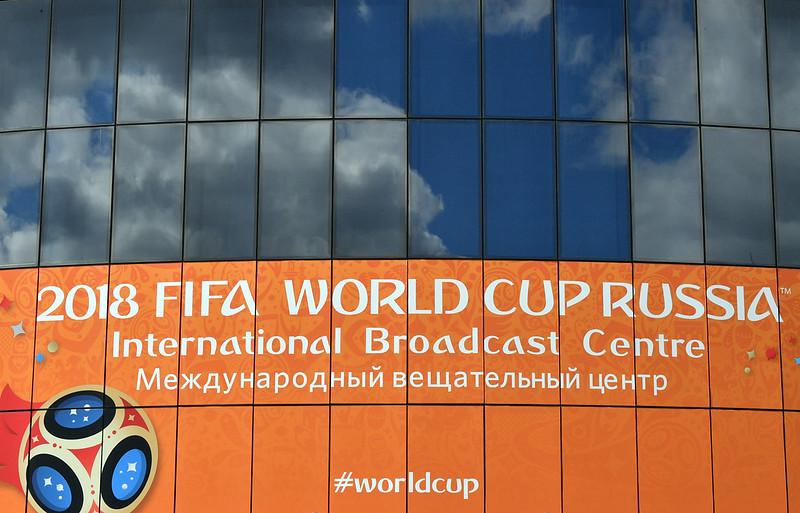 2018年世界盃國際轉播中心。(AFP授權)