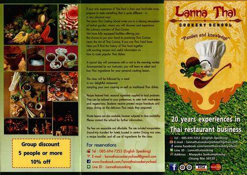 Brochure Lanna Thai Cookery School Chiang Mai Thailand 1