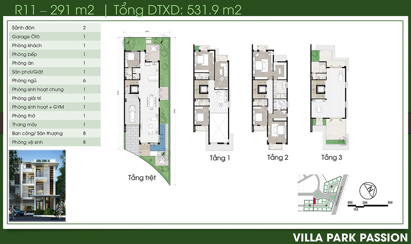 Biệt thự song lập Villa Park Passion R11