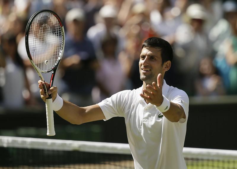 Novak Djokovic將於溫網準決賽對上強敵Rafael Nadal。(達志影像)