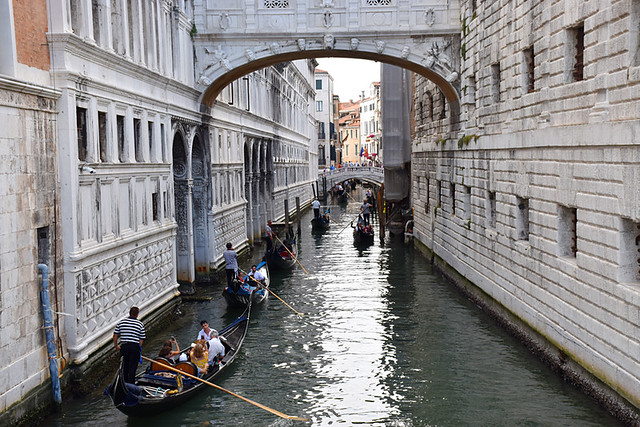 Gondolas at Bridge of Sighs, Venice