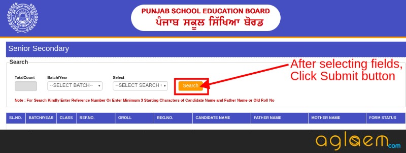 PSEB 12th Supplementary Admit Card 2018 for Science & Commerce