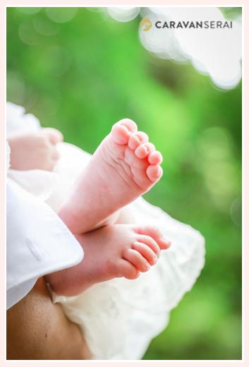 赤ちゃんの足の裏