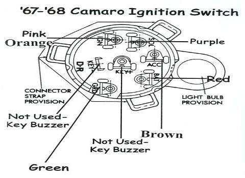 68 camaro ignition switch wiring team camaro tech. Black Bedroom Furniture Sets. Home Design Ideas
