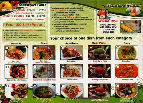 Brochure Tom Yum Thai Cooking School Chiang Mai Thailand 2