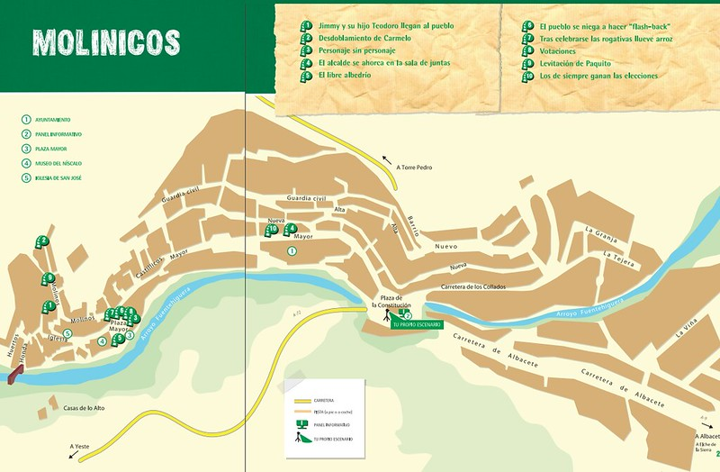 Mapa de Molinicos dentro de la Ruta de Amanece que no es poco
