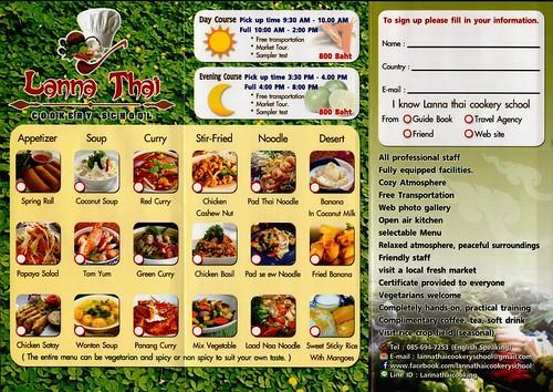 Brochure Lanna Thai Cookery School Chiang Mai Thailand 2