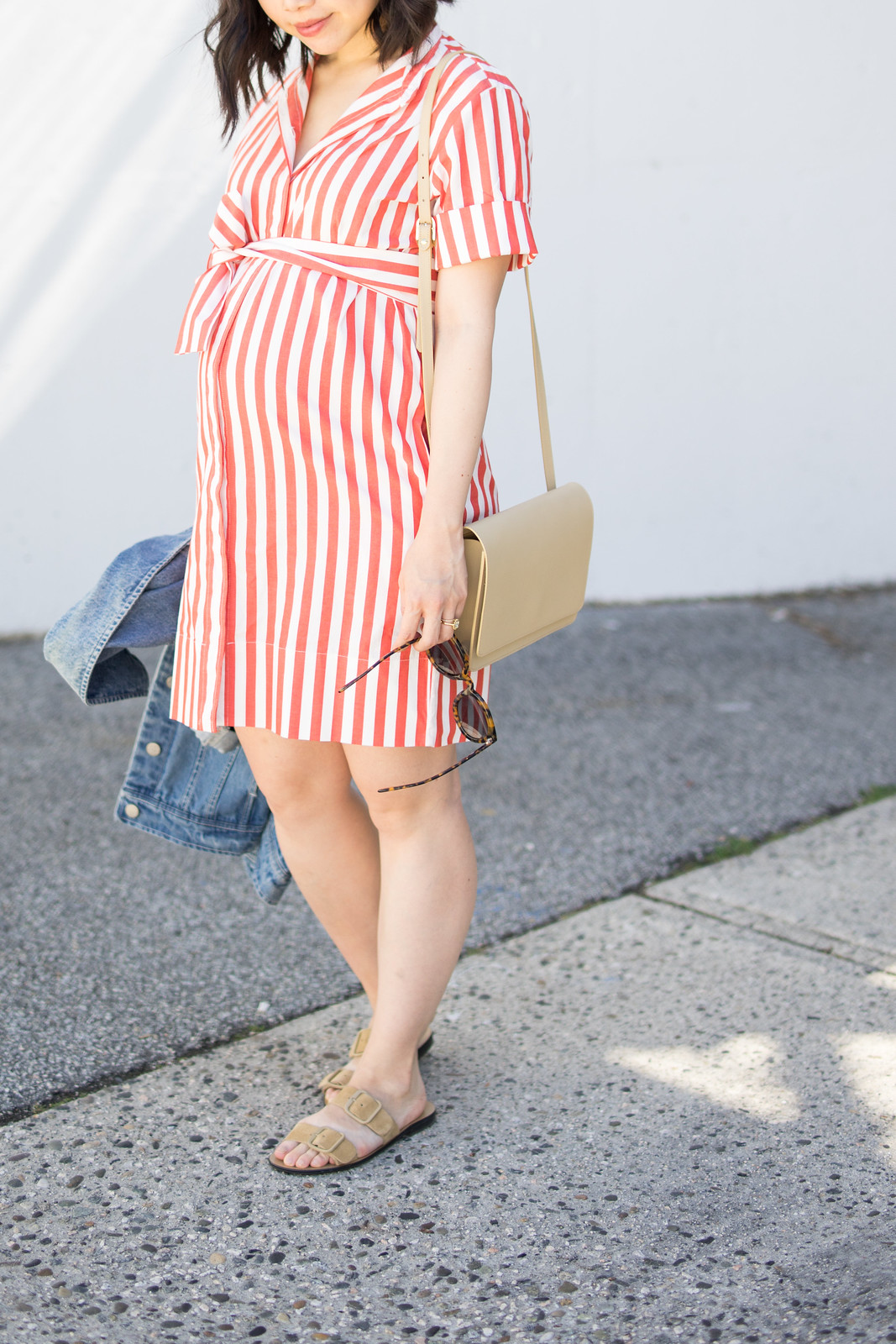 everlane striped shirt dress