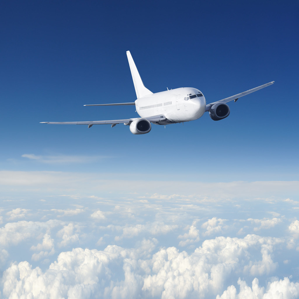 Aeroplane | Clear airplane in the sky. Passenger Airliner ...