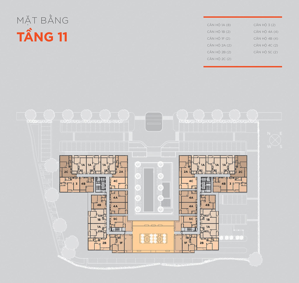 Mặt bằng tầng và thiết kế căn hộ Hausneo 33