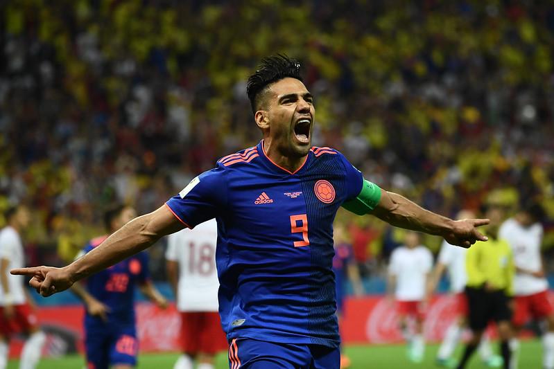 Radamel Falcao成功踢進他在世界盃的首次進球。(AFP授權)