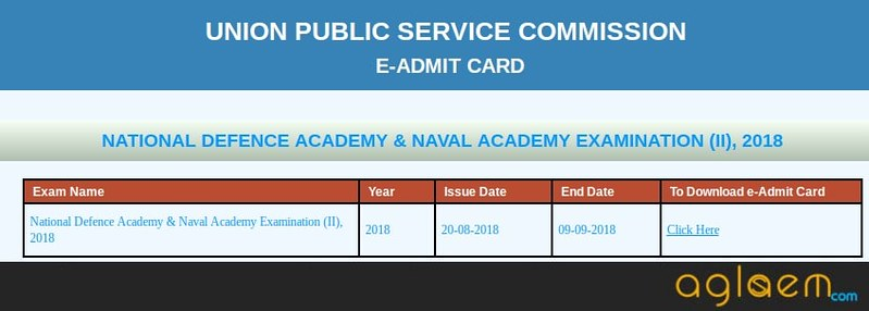 UPSC NDA 2 Admit Card 2018 (Released): Download Here NDA Admit Card