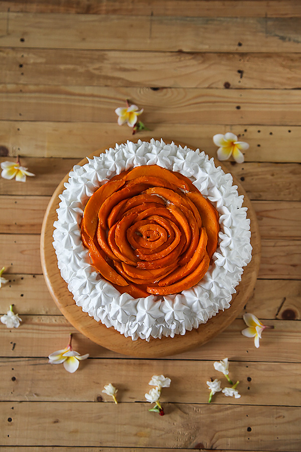 Image for Eggless Chocolate Mango Rose Cake