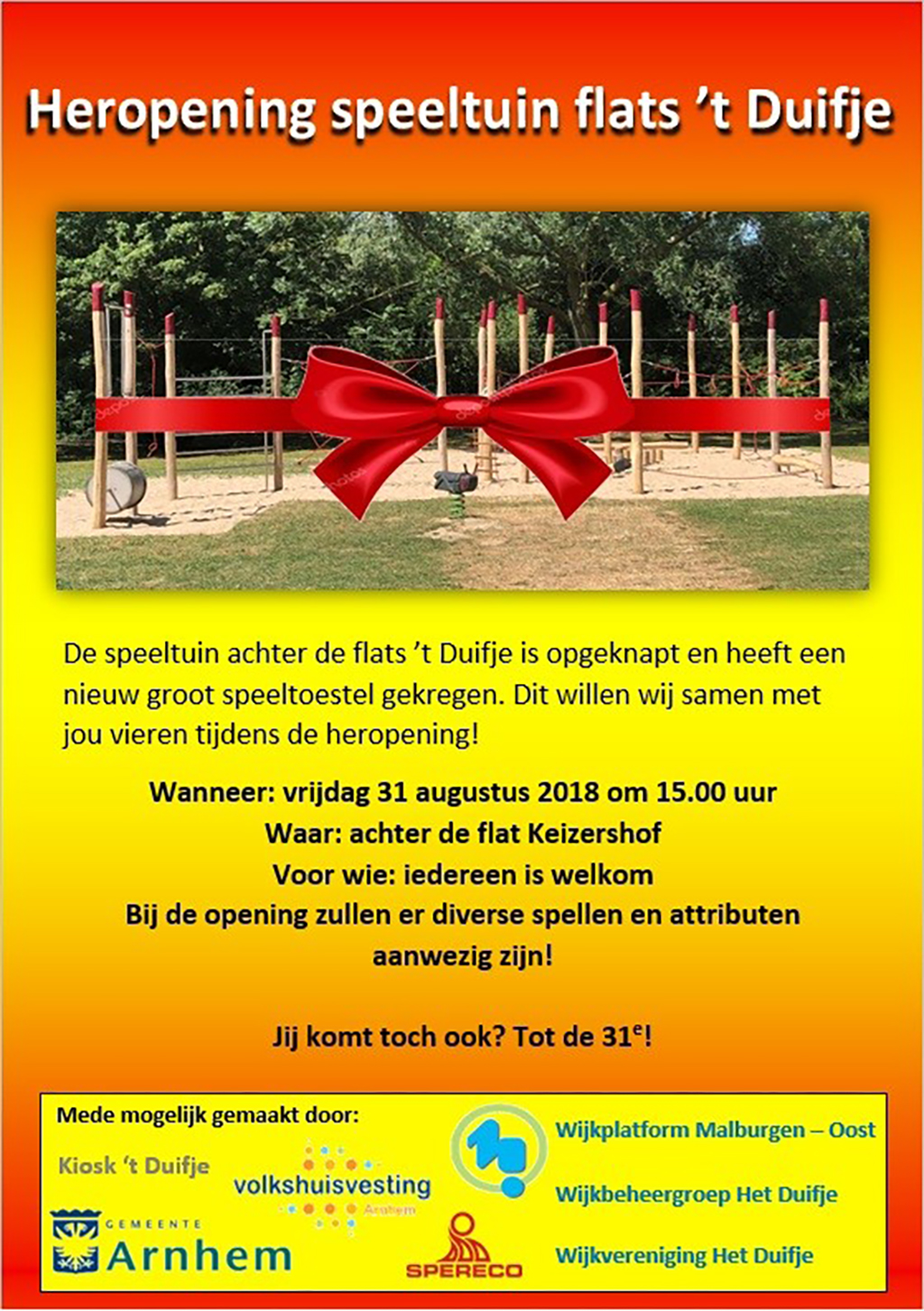 flyer opening speeltuin